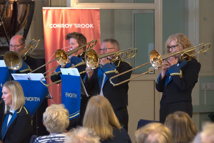 The concert by Hepworth Band at Holmfirth Civic Hall was a hit